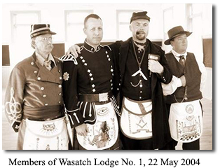 Members of Wasatch Lodge No. 1, 22 May 2004 at Camp Floyd State Park