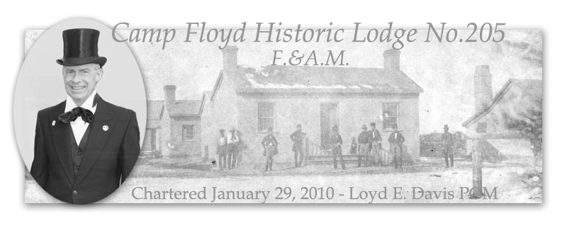 Camp Floyd Historic Lodge No. 205 Free and Accepted Masons of Utah