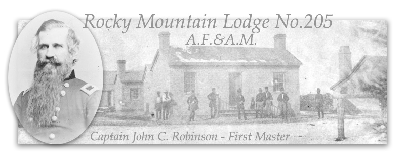 Rocky Mountain Lodge No. 205 Ancient Free and Accepted Masons Utah Territory, Missouri Registry