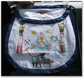 19th Century Replica Apron by W. Brother Michael Moon
